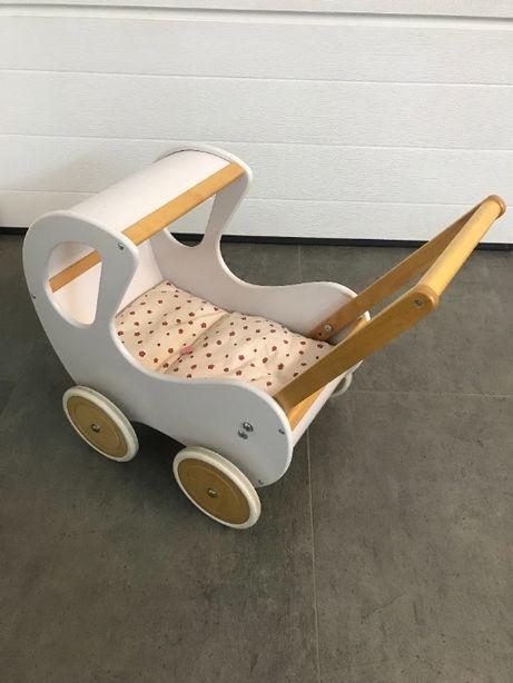 Wózek dla lalek (stylowy, drewniany)