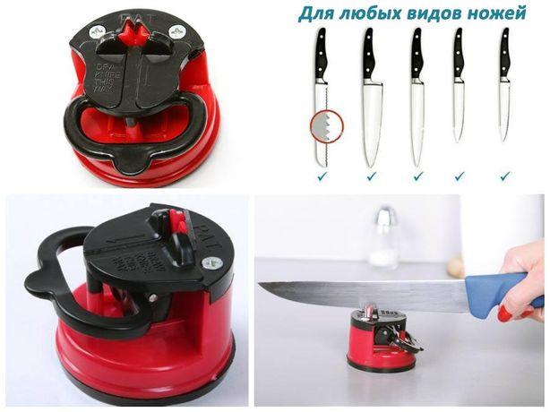 Точилка ножей метал вольфрам Ginza Micro Sharpen на присоске