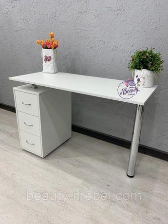 В наличии! Стильный маникюрный стол белого цвета!