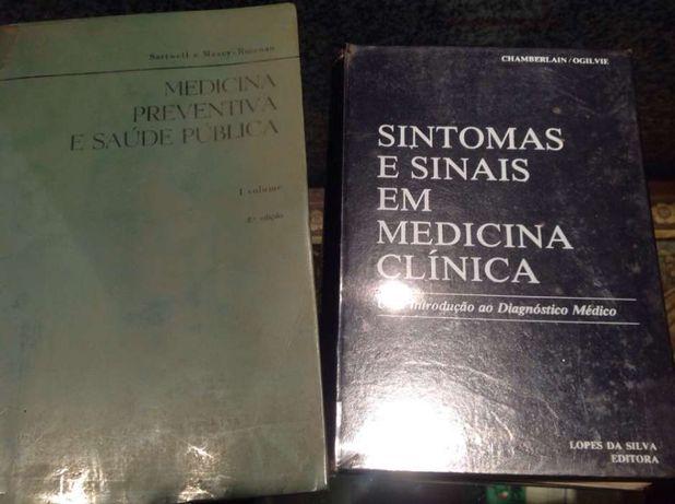 Lote 2livros Medicina Clínica e Medicina Preventiva e Saúde Publica