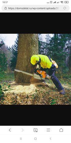 Спил деревьев ,обрезка веток