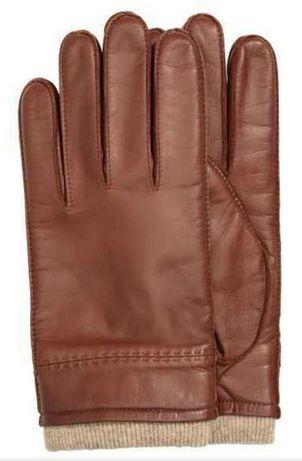 Перчатки мужские H&M из натуральной кожи
