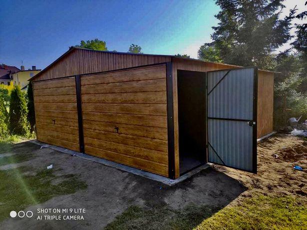 Garaz drewnopodobny 6x5 6x6 Producent caly slask !!! garaze blaszaki