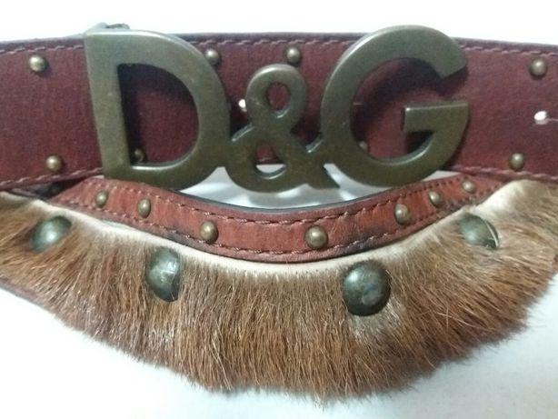 Cinto com pelo marca Dolce & Gabbana