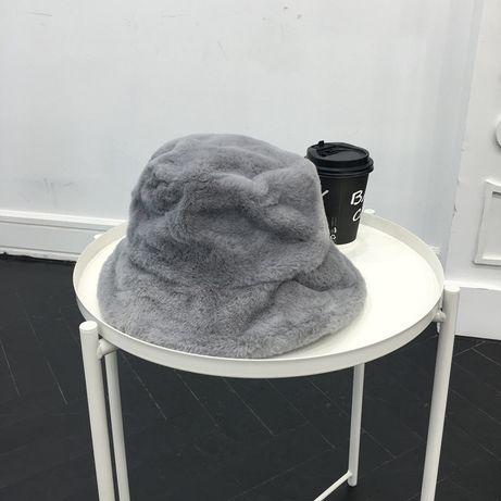 Зимняя тёплая плюшевая меховая шапка головной убор