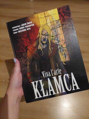 """Używany komiks """"Kłamca: Viva l'arte"""" Jakub Ćwiek, D.Pochopień, G.Nita"""