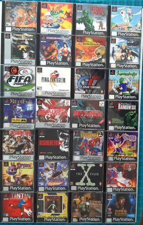 Coleção de jogos para a PlayStation/PS1 (Ape Escape, MGS, Spyro, etc)