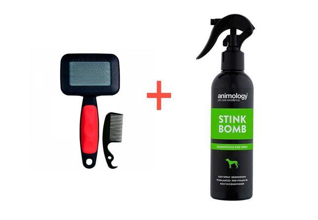 Spray Remove Odor / Perfume (cão) + Escova [Novo]