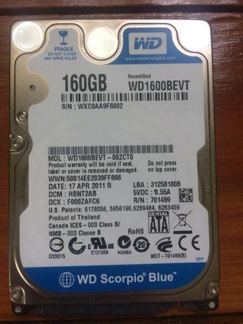 Жесткий диск 160 гб Western Digital для ноутбука