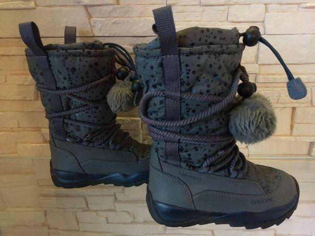 Buty zimowe śniegowce wiązane Geox r. 26