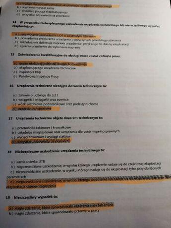 HDS pytania z odpowiedziami, materiały UDT 2020
