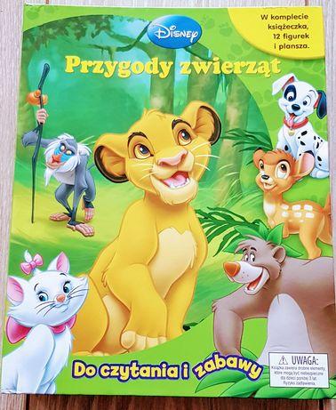 Przygody zwierząt-unikatowa książeczka ze zwierzątkami i planszą.