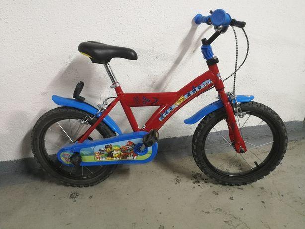 "Bicicleta de criança ""Patrulha Pata"" D18"