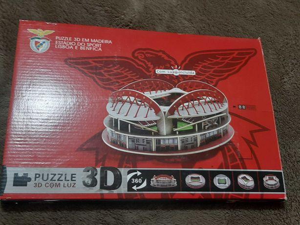 Puzzle estadio do Benfica em madeira 3D
