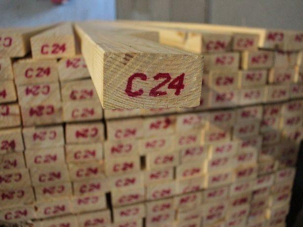 Kantówka lita wym 45x95mm, w dł. 5,4m/6m, suszona i strugana, Mikołów.