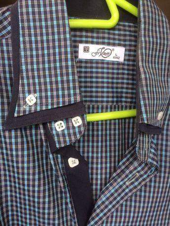 Koszulka w kratkę długi rękaw męska L druga rzecz 30% taniej wysyłka