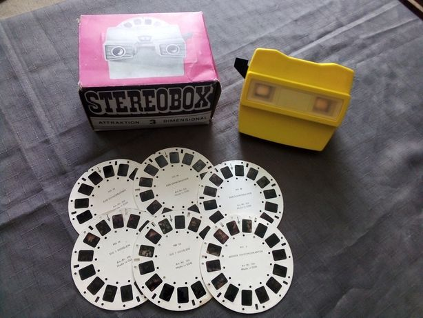 Projektor Stereobox z pudełkiem i 6 tarczami