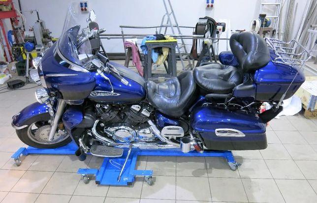 Platforma motocyklowa wózek stojak cruiser garaż ciężki nie podnośnik