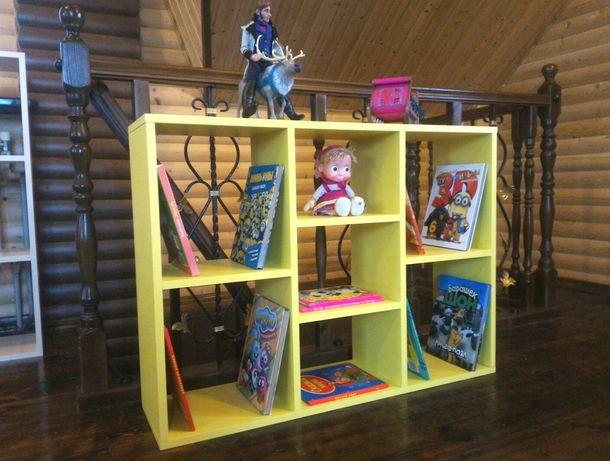 КРАСИВЫЙ стеллаж, полки для игрушек, книг!!! Тумба в детскую, гостиную