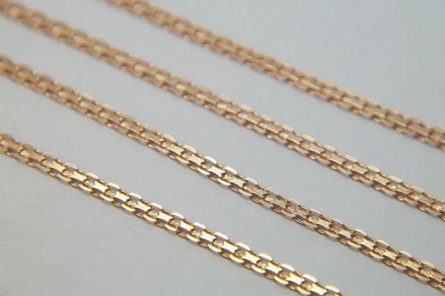 Цепочка Бисмарк 50, 55см серебро 925 в золоте 750 и 585пробы