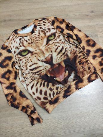 Свитшот 3D S M L кофта свитер джемпер леопардовый 44 46 48