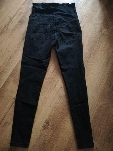 Czarne jeansy ciążowe HM mama r. 40/42