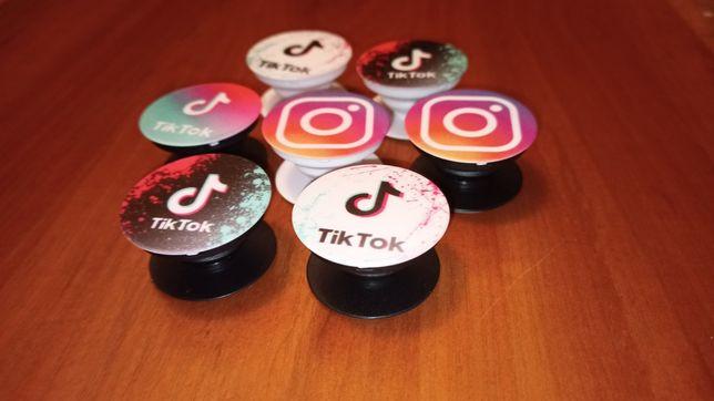 Попсокет держатель instagram tik-tok.Новый.Лучшая цена!