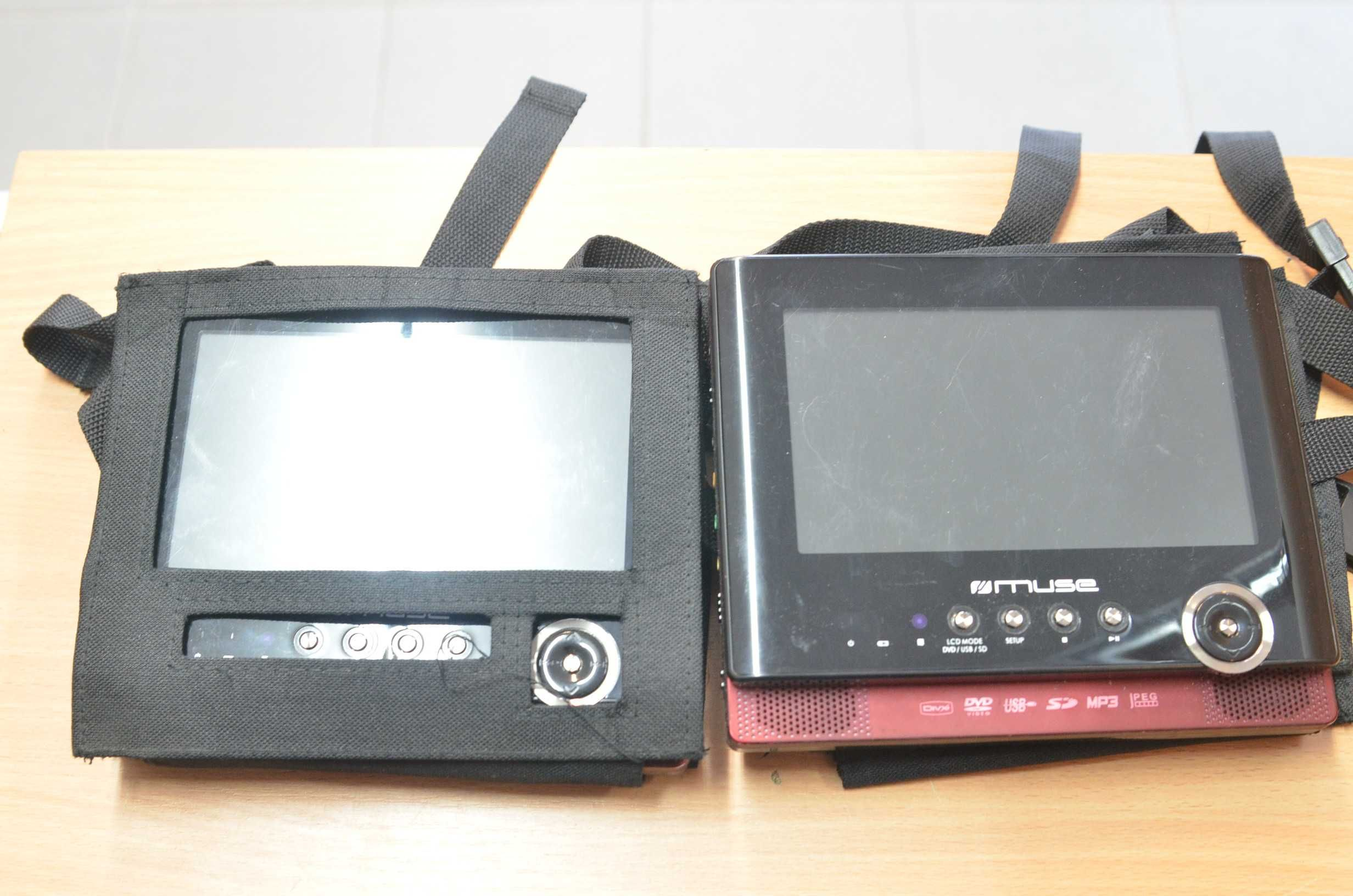 Przenośny odtwarzacz DVD z dwoma ekranami Muse Lombard Tarnów