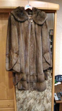 Норковая шуба мех оригинальный не стриженный р46-54