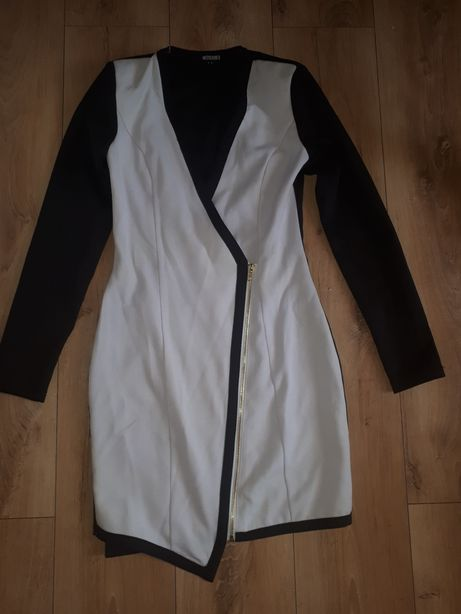 MISSGUIDED S kopertowa bialo czarna zip