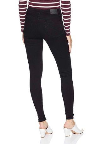 26 28 30 720 721 Levis джинсы на высокой посадке талии Черные скинни
