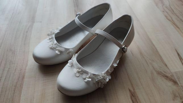 Buty komunijne dziewczęce białe roz. 32
