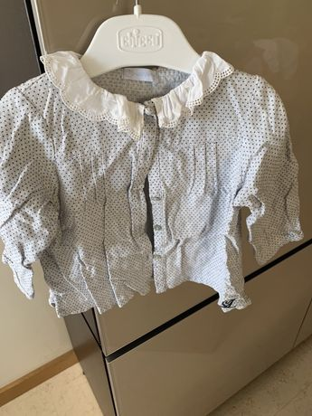 Camisa golinha laranjinha 18 meses