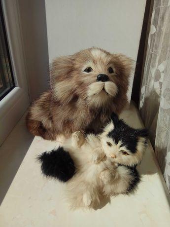 Декоративна іграшка-муляж собака і кіт ціна за всі