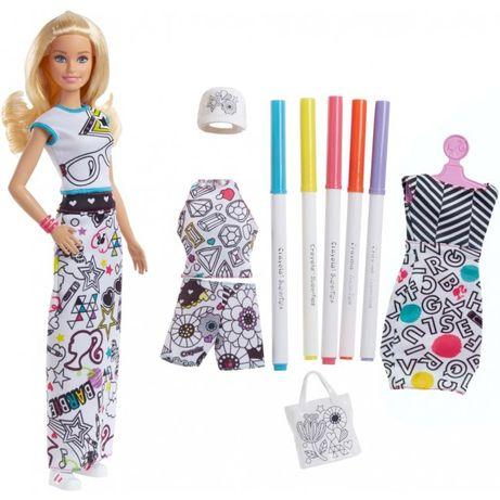 """Набор Барби Barbie x Crayola """"Разукрашка одежды"""" FPH90 США"""