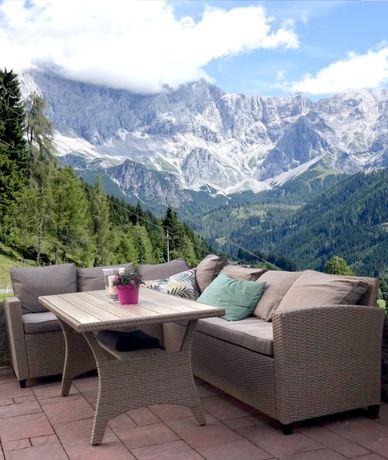 zestaw ogrodowy NAROŻNIK stół sofa technorattan ogród meble na prezent