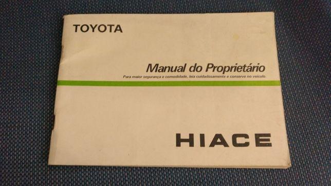 Manual do proprietário Toyota HIACE