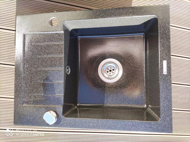Zlewozmywsk kuchenny granit DEANTE czarny 58 cmx44 cm