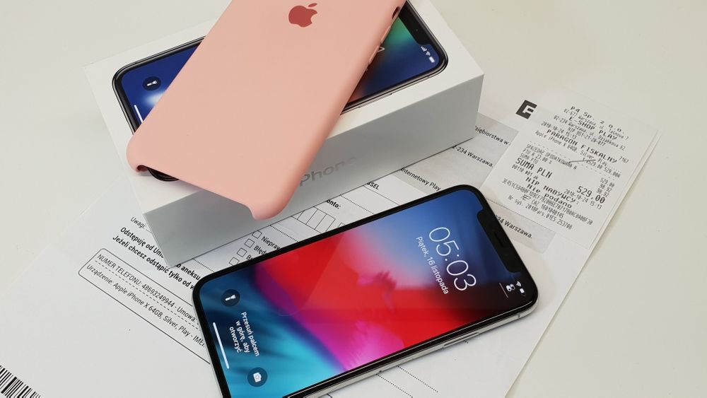 NAJTANIEJ • iPhone X 256GB Silver • GWAR 1 MSC • AppleCentrum Wrocław - image 1