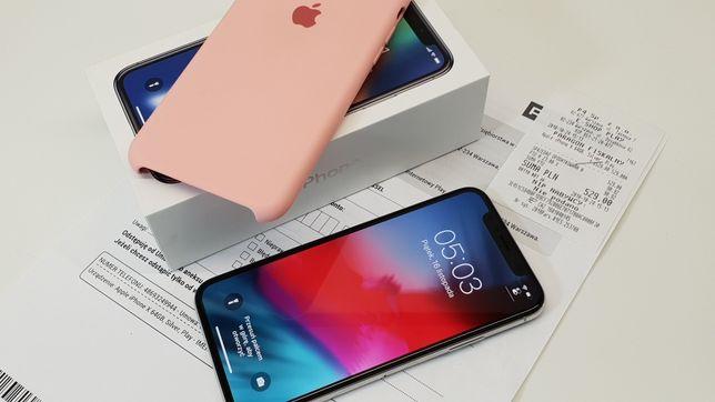 NAJTANIEJ • iPhone X 256GB Silver • GWAR 1 MSC • AppleCentrum