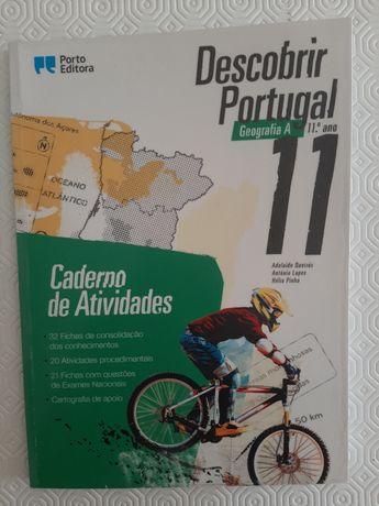 Caderno de atividades Descobrir Portugal Geografia A 11 ano