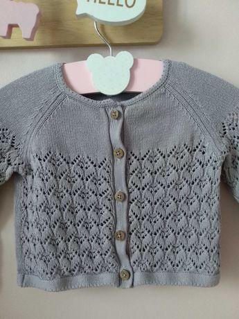 Newbie sweterek swetr fioletowy lila ażurowy roz 74
