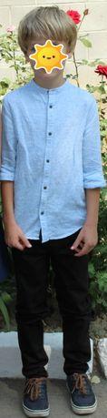 Рубашка ТМ Некст с длинным рукавом, без воротника размер, 134 см, 9 ле