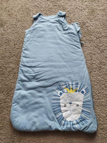 Śpiworek niemowlęcy, niebieski