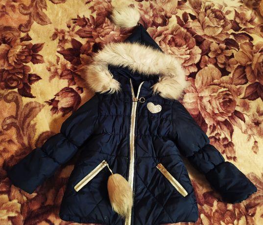 Продам зимню курточку для дівчинки