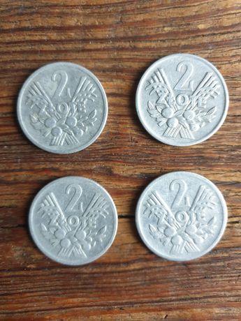 4 monety 2 zł Jagody - PRL