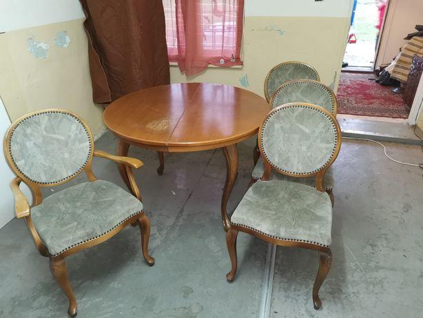 Stół Ludwik z krzesłami