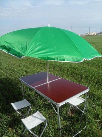 Складной, мебель / Садовый: стол 120 х 60 см / в комплекте 4 стула /