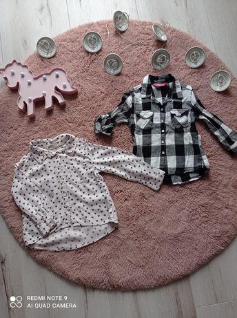 Koszula dla dziewczynki H&M r. 92/98 2 pak