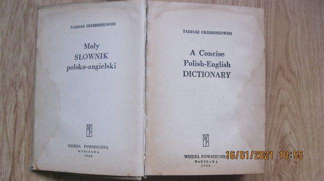 Mały słownik polsko - angielski , angielsko-polski